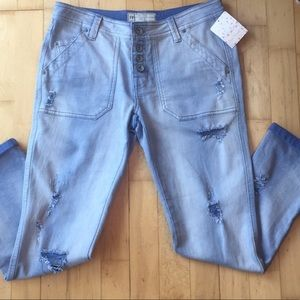 Free People Mountaineer Jean Orchid Size 2 NWT